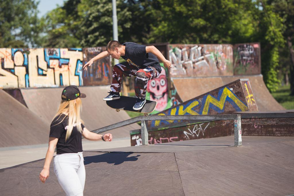 Skatebord park usce